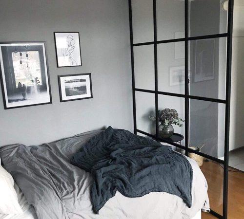 Inredningsglas vägg